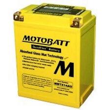 New MotoBatt MBTX14AU AGM Sealed QuadTech YTX14 ATV UTV Bike Replacement Battery