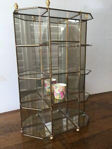 Small Mirror-Backed Glass Vitrine / Display Unit