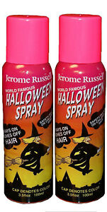 Jerome Russell Halloween Spray PINK Temporary Hair Color TWO PACK  *Fast Ship*