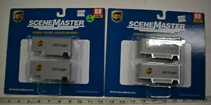 Lot 9-192 * HO Scale Walthers Scenemaster 2 x 949-2551, 26' Drop Floor Trlr. UPS