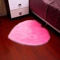 Nordic Super Soft Heart Shape Fluffy Carpets Long Plush Area Rug Shaggy Carpets