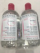 Bioderma Sensibio H2O Make-Up Removing Micelle Solution 16.7oz - 2 PACK DUO SET