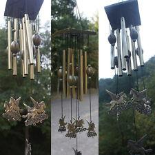 Windspiel Lebenden Metall 8 Schläuche Holz Garten Wohnkultur Pferd Form