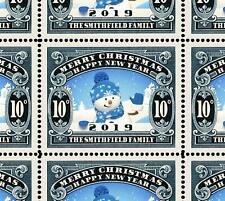 Custom Christmas Stamps - Sheet of 25 - Gummed & Perforated Sheet [REPRO]