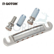GOTOH Guitar stop tailpiece GE101A Aluminum Chrome finish