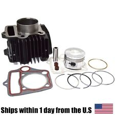 52mm Cylinder Kit Piston Rings Set 110cc Engine Parts Kazuma Redcat ATV Go Kart