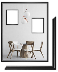 CRIXUS23 Echtholz Bilderrahmen Schwarz Matt Foto Poster Rahmen B/_65