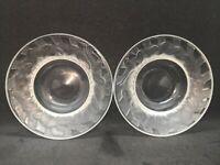 Pair Of Vintage Lalique Irene Bird Trinket Dish / Bowl Rene?