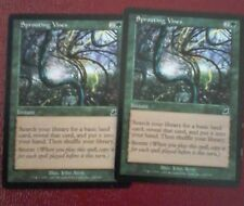 Lot 2 Sprouting Vines Magic the Gathering cards