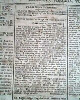 CONFEDERATE CAPITAL w/ Battle of Bolivar Heights WV 1861 Old Civil War Newspaper