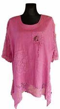 Sarah Santos Kurzarm Damenblusen, - tops & -shirts in Übergröße