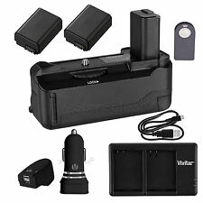 Battery Grip for Sony A6300 + 2x NP-FW50 Battery + AC/DC USB Dual Charger