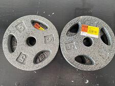 BRAND NEW!! CAP 5lbs Pound Standard Grip Steel Weight Plate(s)