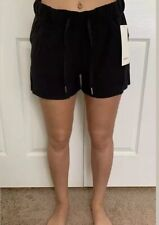 Lululemon Size 6 On The Fly Short 2.5 Woven Black BLK Speed Tracker Pace Travel