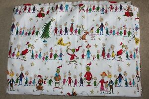 Pottery Barn Kids Dr. Seuss The Grinch and Max Organic Flannel Twin Flat Sheet