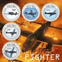 WR World War ll Aircraft Model Collection Coin Air Collection Gifts 5pcs Set