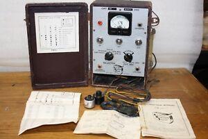 Vintage B & K Cathode Rejuvenator Tester CRT Adapters & Instruction Model # 350