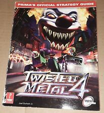 Twisted Metal 4 Game Prima Official Strategey Guide Book Paperback 1999
