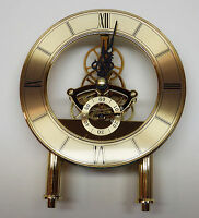 "Anniversary Quartz Skeleton Clock Movement With Dial NEW Gold 5 7/8"" Tall"