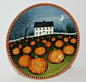 Hallowen PUMPKIN PATCH Farmhouse PLATE Sakura PUMPKIN HOLLOW David Carter Brown