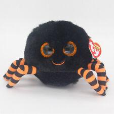 "6"" Ty Beanie Boos Crawly Halloween Balck Spider Stuffed Animal Plush Toy Gift Y1"