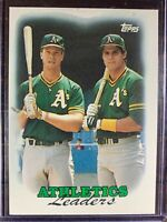 Mark McGwire Jose Canseco Baseball Card #759 Topps Oakland Athletics MLB HOF