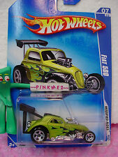 2009 Hot Wheels Fiat 500 #163/190 ~Antifreeze Green (ړײ) Modified Rides 🚙
