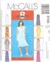 UNCUT McCalls Sewing Pattern Misses 8 Looks Pull on Dress 3165 4 6 8 OOP SEW FF