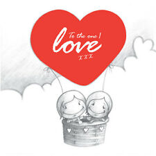 """""""To the One I Love"""" Cupids Birthday/Anniv/Valentines Card red hot air balloon"""