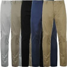 Mens Chino Trousers Kangol Branded Regular Fit Cotton Straight Leg Casual Pants