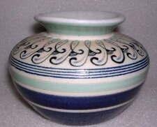 Blue & Green Stoneware BUD VASE , made in Thailand