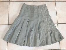 Jupe plissée IKKS, Taille 34fr,  beige, authentique