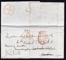 1831 Irish free entire to MP R. Plunkett -- Dublin Free mermaid removed pmk