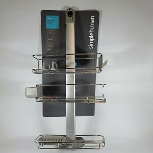 Adjustable and Extendable Shower Caddy Plus, Stainless Steel & Anodized Aluminum