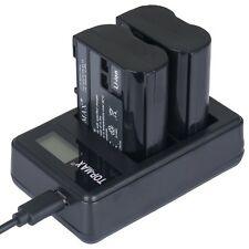 TOP-MAX® Dual USB Charger MH-25 MH25 for EN-EL15 ENEL15 Battery Nikon 1 V1 D600