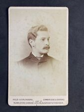 Victorian Carte De Visite CDV: Young Handsome Gent: Hills & Saunders Cambridge