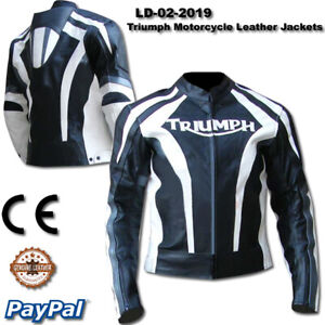 Triumph motorcycle leather racing jacket with pant LD-02-2019 ( US 38-48 )