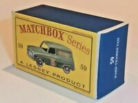 Matchbox Lesney No 59 FORD SINGER TRUCK Empty Repro Box style D