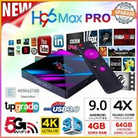 H96 Max Set Top Box RK3318 Android9.0 WiFi 16/32/64G Quad Core 4K Smart TV USA