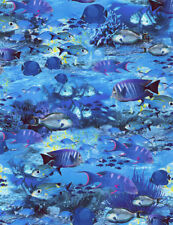 School of Fish-All Over Design-Timeless Treasures-Fat 1/4-Ocean-Fishing-Reef