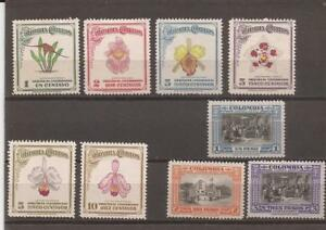 COLOMBIA-1947 Orchids set plus 3 nice airmail stamps(low price)