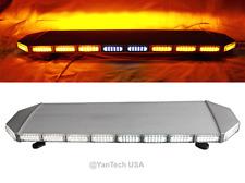 "47"" Amber 132 LED Light Bar Beacon Warning Strobe Tow Truck Plow Police Fire EMS"