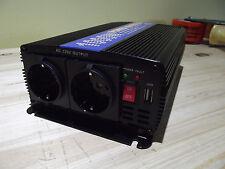 Spannungswandler,Wechselrichter 12V-230V 1000W/2000W, 2xSchukosteckdose,1xUSB