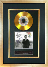More details for #127 gold disc panic at the disco album signed reproduction autograph mounted a4