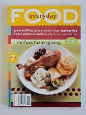 MARTHA STEWART EVERYDAY FOOD MAGAZINE #7 November 2003 THANKSGIVING RECIPES EUC