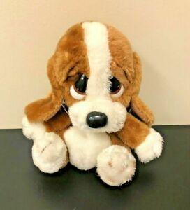 "Vintage Sad Sam 9"" Stuffed Plush, Brown Dog Big Head Puppy 1980s Applause"