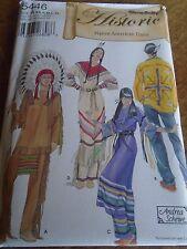 """PATRON """"SIMPLICITY  COSTUMES HISTORIE INDIEN D'AMERIQUE MIXTE  XS AU XL N°5446"""