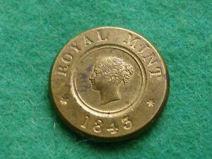 1843 Royal Mint Sovereign Weigh A/Unc (SE-48)