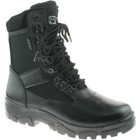 """Mens Grafters Sniper 8"""" Black Leather Waterproof Combat Boots M482A KD"""