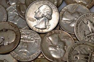 Pre-1965 Washington Quarters - 90% Silver - Choose how many! - Free Shipping